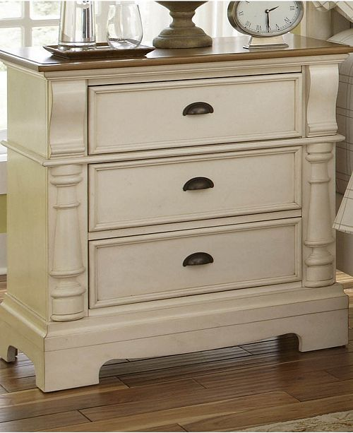 Coaster Home Furnishings Oleta 3-Drawer Nightstand with Bracket Feet