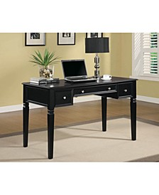 Writing Desk with Keyboard Drawer and Power Outlet