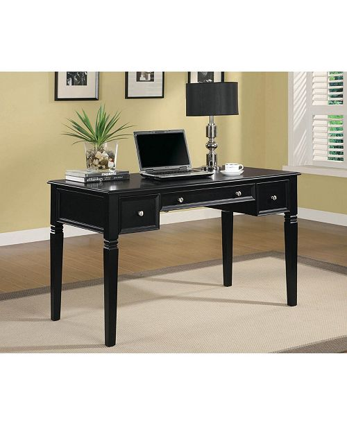 Coaster Home Furnishings Writing Desk with Keyboard Drawer and Power Outlet