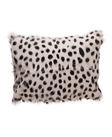 """Goat Fur Bolster Spotted 20"""" x 12"""""""