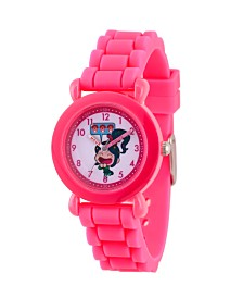 EwatchFactory Girl's Disney Pink Plastic Time Teacher Strap Watch 32mm
