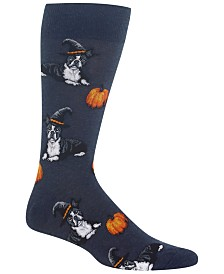 Hot Sox Men's Boston Terrier Socks