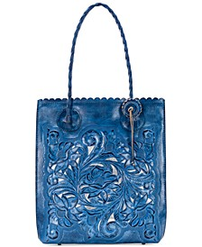 Cavo Burnished Tooled Leather Tote