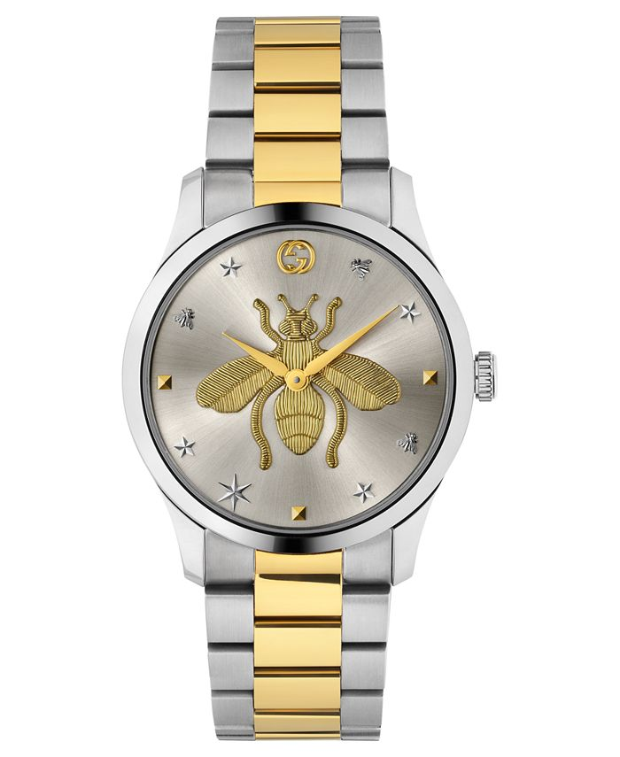 Gucci - Unisex G-Timeless Two-Tone Stainless Steel Bracelet Watch 38mm
