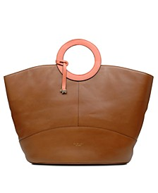 Market Leather Street Tote