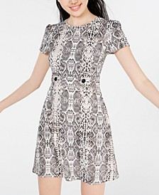 Juniors' Snake-Print T-Shirt Dress