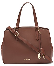 Lock Leather Satchel