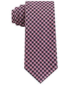 Men's Classic Textured Plaid Tie