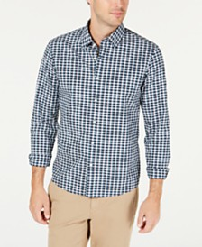 Michael Kors Men's Slim-Fit Stretch Micro-Plaid Shirt