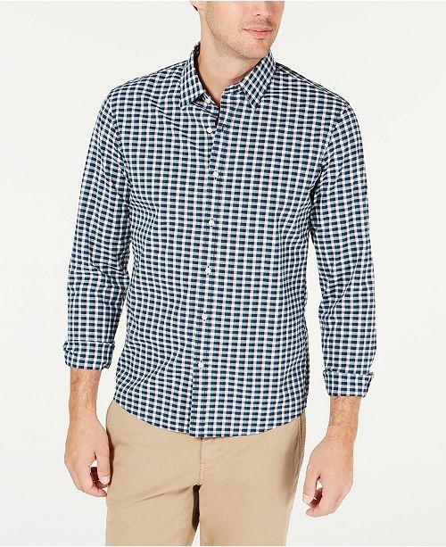 Michael Kors Men's Slim-Fit Stretch Micro-Plaid Shirt