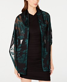 I.N.C. Contrast Floral Burnout Wrap, Created for Macy's