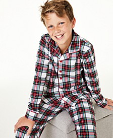 Matching Kids Stewart Plaid Pajama Set, Created for Macy's