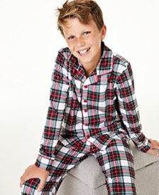 Matching Family Pajamas Kids Stewart Plaid Pajama Set, Created For Macy's