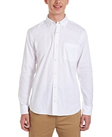 Young Men Long Sleeve Stretch Oxford