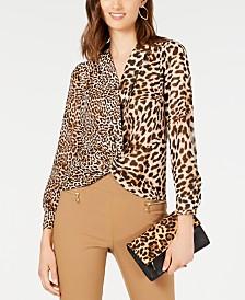 I.N.C. Leopard-Print Top, Created for Macy's