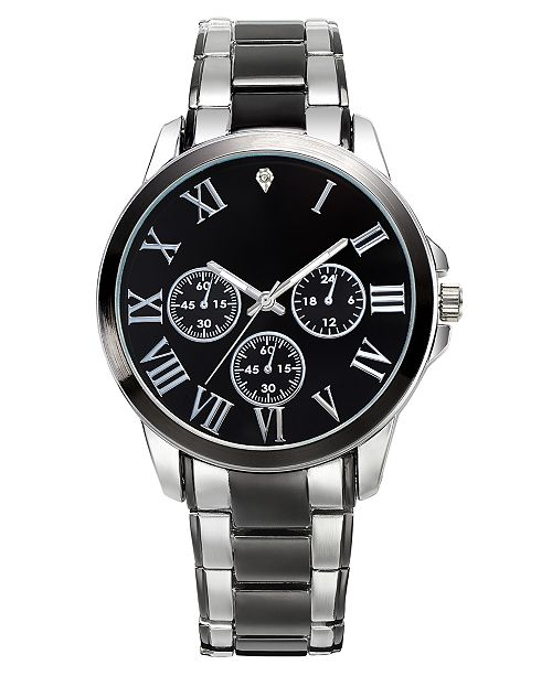 INC International Concepts INC Men's Two-Tone Watch & Bracelet 42mm Gift Set, Created For Macy's