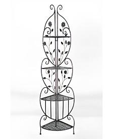 Heather Ann Le Fleur Collection Daisy 4-Shelf Corner Foldable Rack