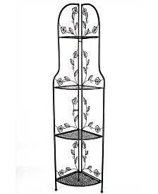 Heather Ann Le Fleur Collection Rosa 4-Shelf Corner Collapsible Rack