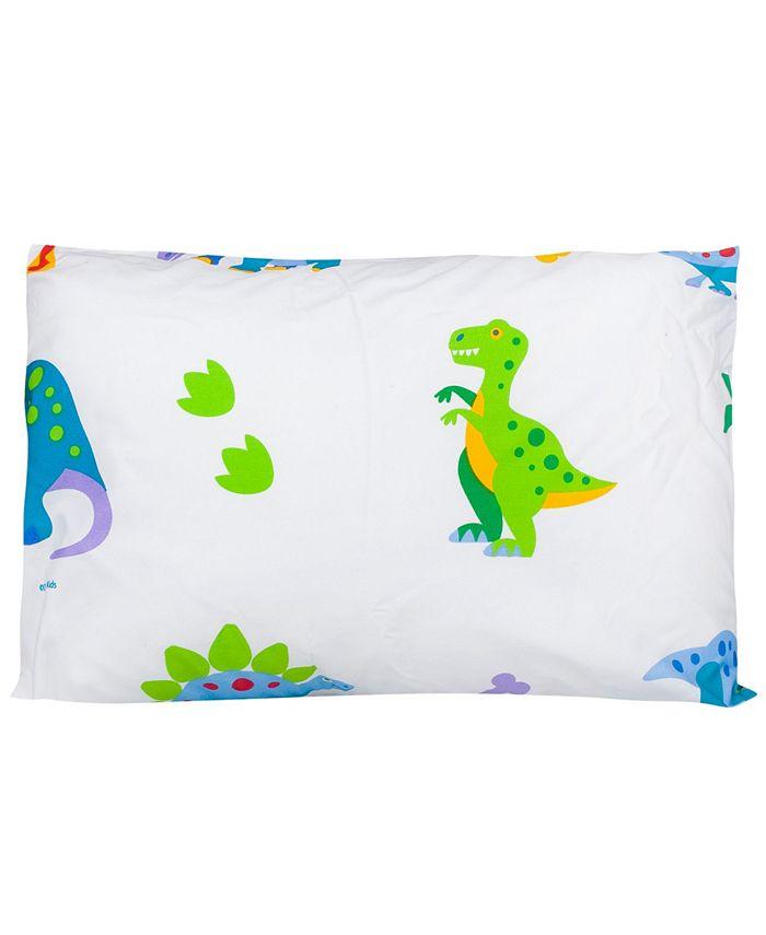 Wildkin - Dinosaur Land Toddler 13 1/2 x 19 Hypoallergenic Toddler Pillowcase