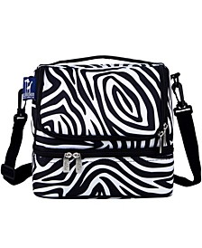 Zebra Two Compartment Lunch Bag