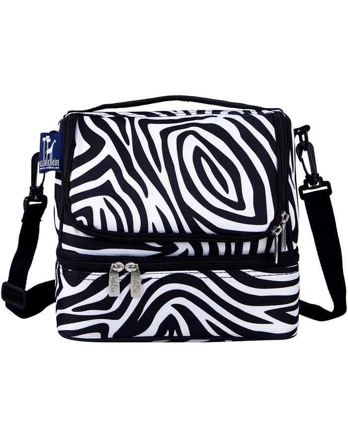 Wildkin - Zebra Two Compartment Lunch Bag