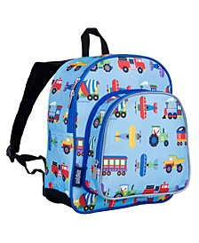 """Trains, Planes and Trucks 12"""" Backpack"""