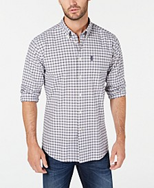 Men's Tailored-Fit Gingham Shirt