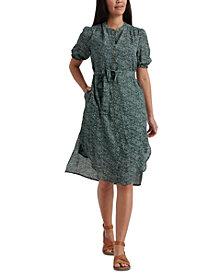 Lucky Brand Dakota Floral-Print Belted Shirtdress