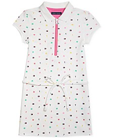 Little Girls San Juan Polo Dress with Half-Zip Closure