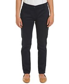 Nautica Juniors Navy Sateen Skinny Pant with Adjustable Waistband