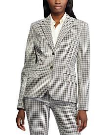 Lauren Ralph Lauren Check-Print Slim Blazer