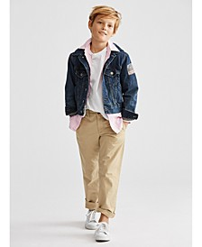 Little Boys Denim Trucker Jacket, Oxford Shirt, Crewneck T-Shirt & Suffield Pants