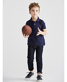 Toddler Boys Piqué Polo & Hampton Straight Stretch Jeans