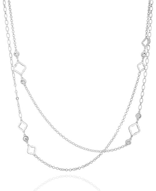 T Tahari Moroccan Metals Layered Station Necklace