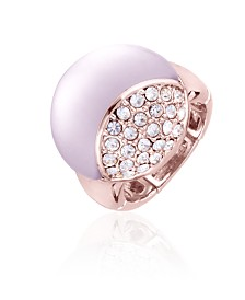 T Tahari Frosted Lucite Stretch Ring