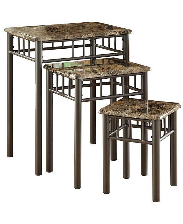 Monarch Specialties 3 Piece Nesting Table Set
