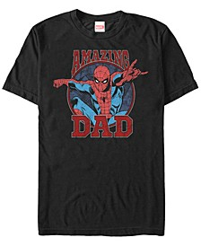 Men's Comic Collection Spider-Man Amazing Dad Short Sleeve T-Shirt