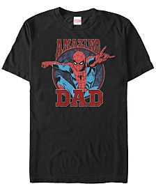 Marvel Men's Comic Collection Spider-Man Amazing Dad Short Sleeve T-Shirt
