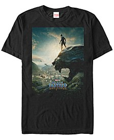 Men's Black Panther Overlooking Panther Short Sleeve T-Shirt