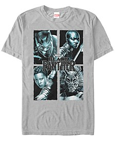 Men's Black Panther Portrait Group Shot Short Sleeve T-Shirt