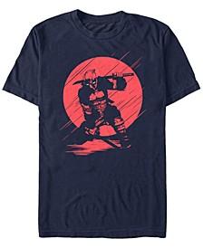 Men's Deadpool Samurai Stance Silhouette Short Sleeve T-Shirt