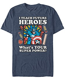 Men's Comic Collection Vintage Teacher Captain America Short Sleeve T-Shirt