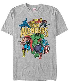 Men's Comic Collection Retro Team Avengers Short Sleeve T-Shirt