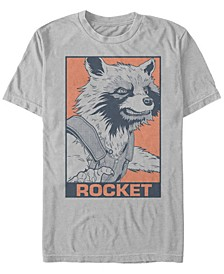 Men's Guardians of the Galaxy Pop Art Rocket Short Sleeve T-Shirt