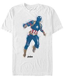 Men's Avengers Endgame Watercolor Painted Captain America Short Sleeve T-Shirt