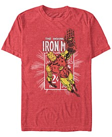 Men's Comic Collection Classic Iron Man Short Sleeve T-Shirt