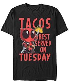 Men's Deadpool Tacos Best On Tuesday Short Sleeve T-Shirt