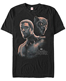 Men's Black Panther T'Challa Unmasked Short Sleeve T-Shirt