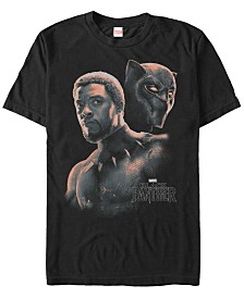 Marvel Men's Black Panther T'Challa Unmasked Short Sleeve T-Shirt