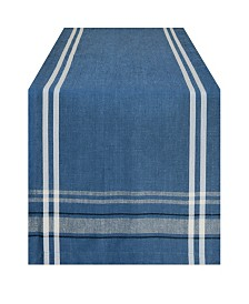 "Chambray French Stripe Table Runner 14"" x 72"""